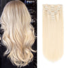 160g clip in hair extensions ash blonde #60|var-31950210891848