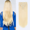 160g clip in hair extensions beach blonde #613|var-31950210269256