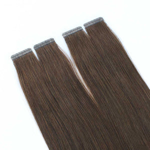 Chocolate Brown (#3) Virgin Tape  In Hair Extensions 18""