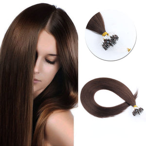 Micro Ring Hair Extensions #3 Medium Dark Brown