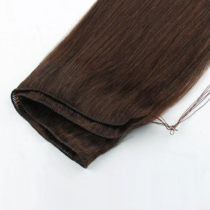 Medium Dark Brown (#3) Hand Tied Hair Extensions
