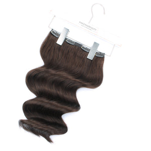 140g Medium Dark Brown 3# Clip In Hair Extensions