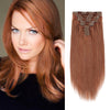 160g clip in hair extensions light auburn #30|var-31950203682888