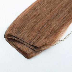 Light Auburn (#30) Hand Tied Hair Extensions