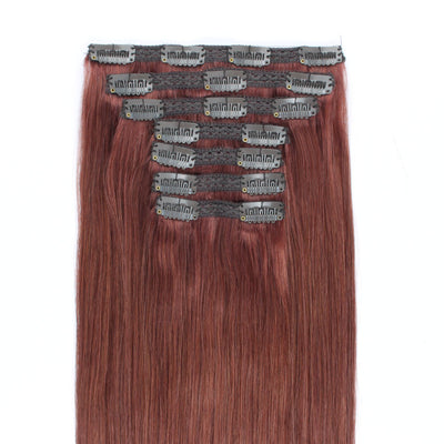 140g Dark Auburn 33# Clip In Hair Extensions 20""