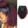 Afro curly clip in extensions ombre N/99J# 16"