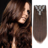 160g clip in hair extensions chocolate brown #4|var-31950197620808