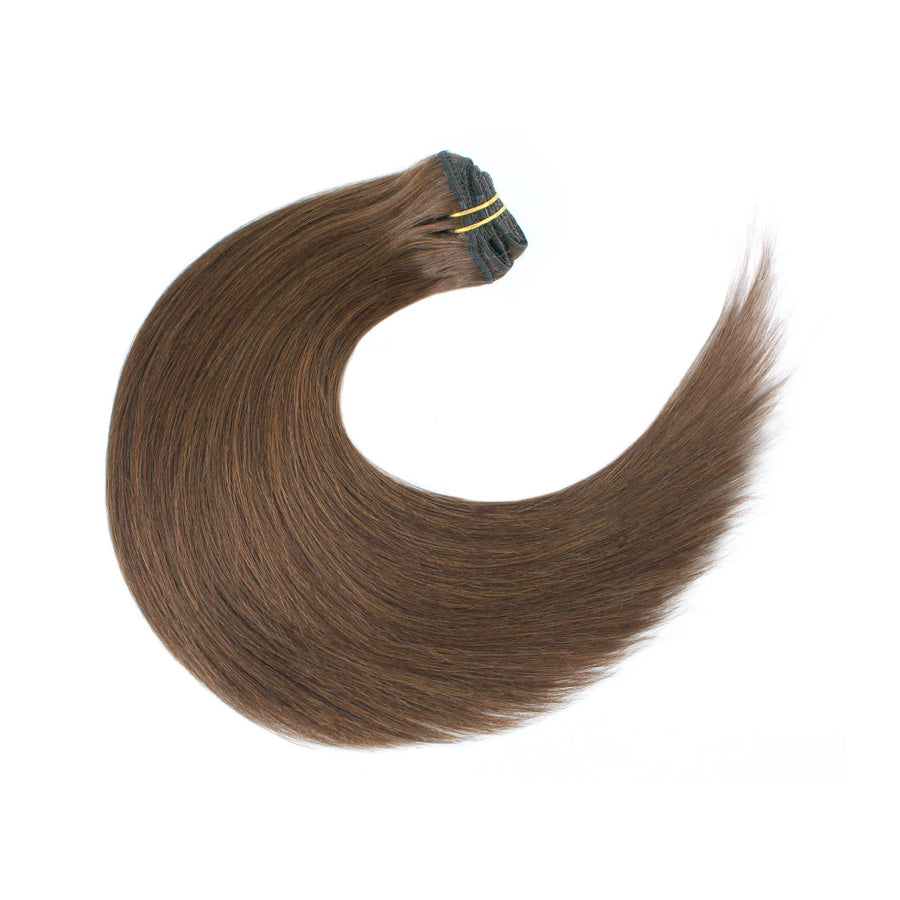 120G Reddish Brown 4# Clip in Hair Extensions