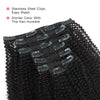 Afro coily clip in extensions natural black 14"