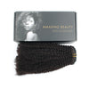 Afro coily clip in hair extensions natural black 12"