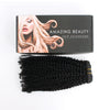 Kinky coily clip in extensions natural black 18"