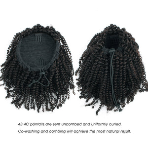 Clip In Ponytail Afro Kinky Coily