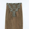 160g Chestnut Brown 6# Clip In Hair Extensions 20""