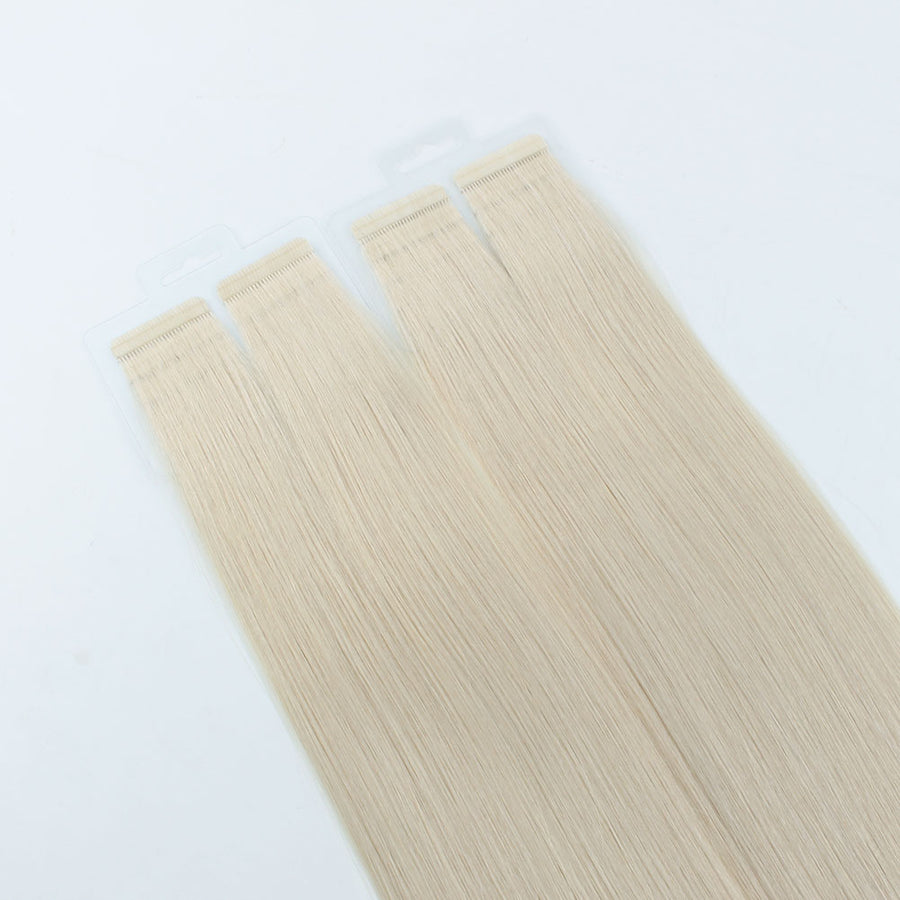 Ash Blonde (#60) Virgin Tape  In Hair Extensions