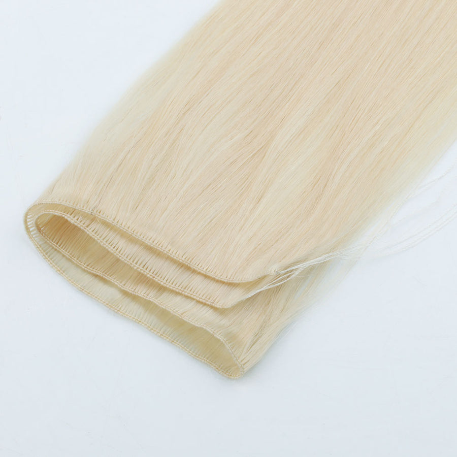Ash Blonde (#60) Hand Tied Hair Extensions