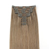 160g Ash Brown 8# Clip In Hair Extensions 20""