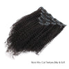 Afro curly clip in hair extensions natural black 22"