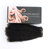 Afro curly clip in hair extensions natural black 12"