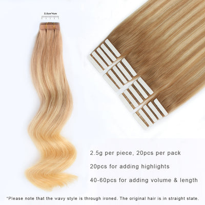 Tape In Hair Extension Balayage B#12/#613