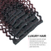 Clip in Hair Extension Jerry Curl Ombre Natural Black to Dark Wine