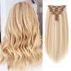 160g clip in hair extensions highlights #18/613|var-31950219804744