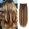 160g clip in hair extensions highlights #4/27|var-31950216757320