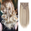 160g clip in hair extensions highlights #8/60|var-31950217838664