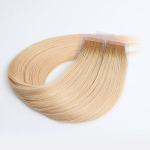 Ombre 11N/12G# 100% Human Hair Virgin Tape In Hair Extensions
