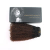 Afro curly clip in hair extensions ombre N/4# 12"