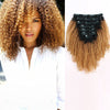 Afro curly clip in hair extensions ombre N/27# 12"