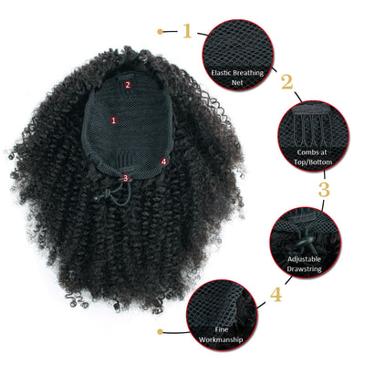 Clip In Ponytail Afro Kinky Curly