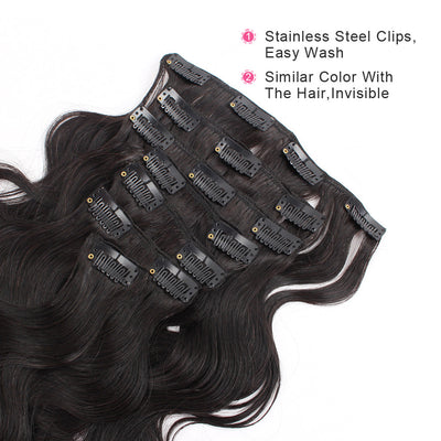 Clip in Hair Extension Body Wave