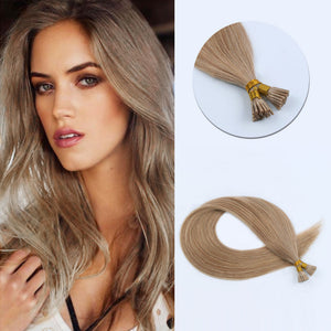 I Tip Hair Extensions #12 Golden Brown