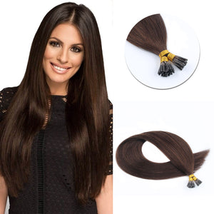 Micro Ring Hair Extensions #2 Dark Brown