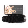 Jerry curly clip in hair extensions natural black 22"