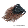 Kinky curly clip in hair extensions ombre N/30# 12"
