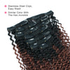 Kinky curly clip in hair extensions ombre N/33# 16"