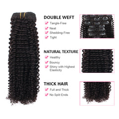 Clip in Hair Extension Kinky Curl