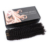 Kinky curly clip in hair extensions natural black 12"