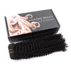 Kinky curly clip in hair extensions natural black 16"