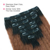 Kinky straight clip in extensions ombre N/30# 16"