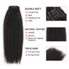 Clip in Hair Extension Kinky Straight