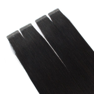 Natural Black (#1B) Virgin Tape In Hair Extensions 18""
