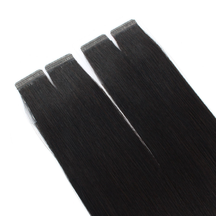 Natural Black (#1B) Virgin Tape  In Hair Extensions