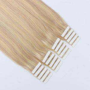 Tape In Hair Extension P #18/#22 Dirty Blonde Highlights Medium Blonde