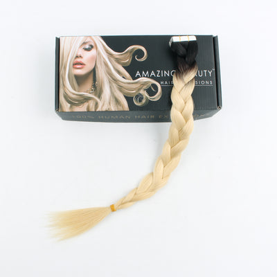 Tape In Hair Extension Rooted R#1B/#613