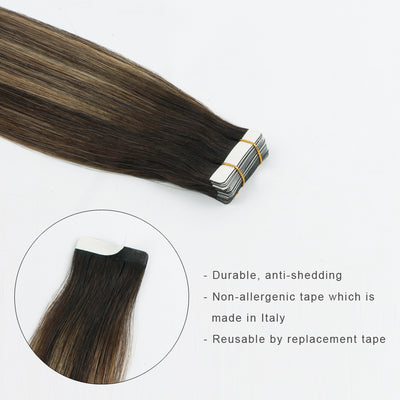 Tape In Hair Extension Balayage B#2/#18