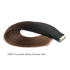 Remy tape in hair extensions omber #2/4|var-31549209083976