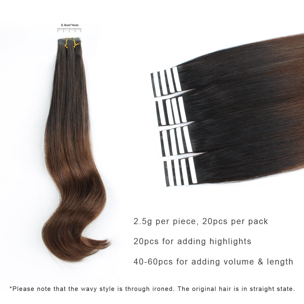 Tape In Hair Extension Ombre T24