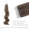 Remy tape in hair extensions Highlights #2/4/6 |var-31550918295624